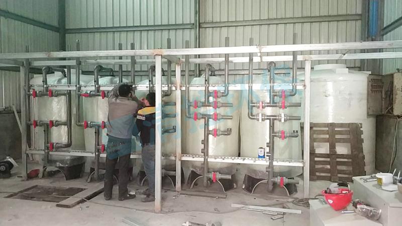 上海某公司电镀废水处理达表三